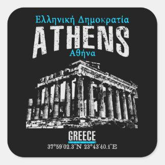 Athens Square Sticker