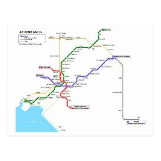 Athens subway postcard