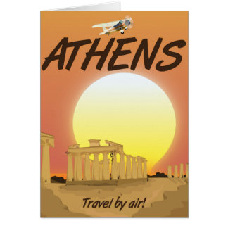 "Athens ""Travel by air"" Golden Sunset Card"