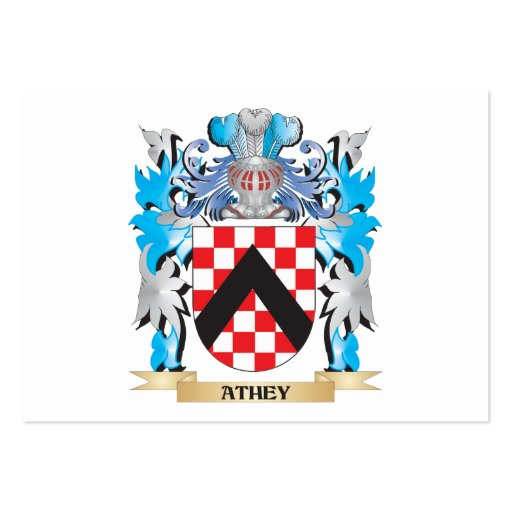 Athey Coat Of Arms Business Card Templates