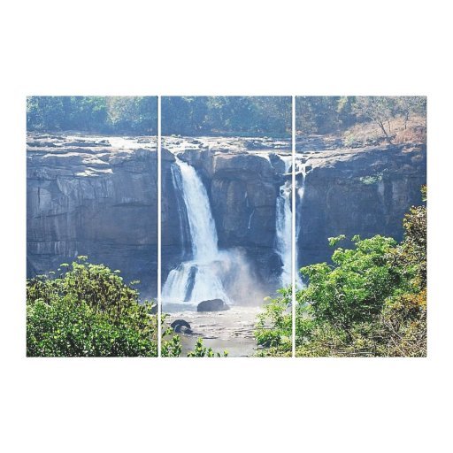 Athirappilly Falls Gallery Wrap Canvas