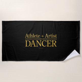 Athlete + Artist = Dancer Beach Towel