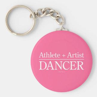 Athlète + Artiste = danseur Porte-clé Rond