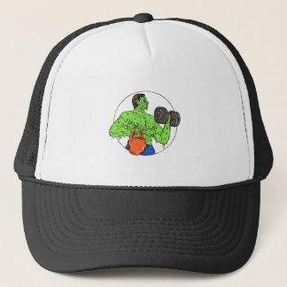 Athlete Fitness Dumbbell Kettlebell Grime Art Trucker Hat