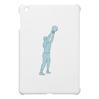 Athlete Fitness Kettlebell Swing Drawing iPad Mini Covers