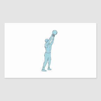 Athlete Fitness Kettlebell Swing Drawing Sticker