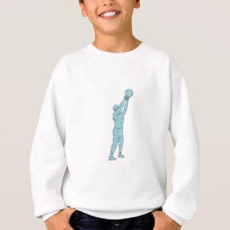 Athlete Fitness Kettlebell Swing Drawing Sweatshirt