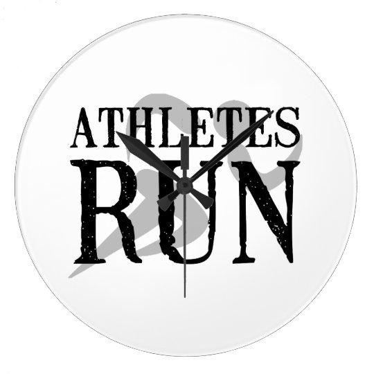 Athletes Run Large Clock