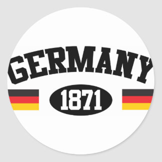 Athletic Germany Classic Round Sticker