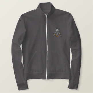Athletic jacket with Masonic Square and Compass