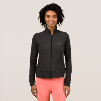 Athletic Jacket with White Cross