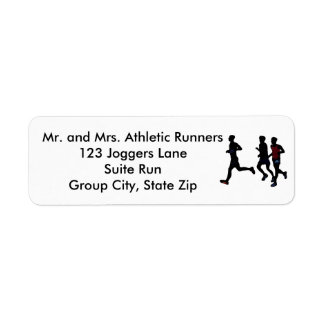 Athletic Runners Running Personalize Address Label
