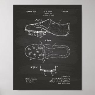 Athletic Shoe 1932 Patent Art Chalkboard Poster