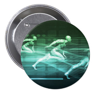 Athletic Training and Running Together 3 Inch Round Button