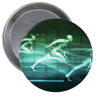 Athletic Training and Running Together 4 Inch Round Button