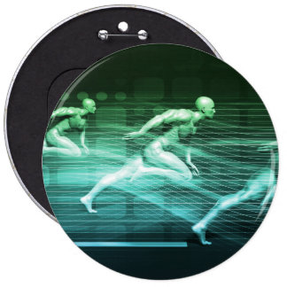 Athletic Training and Running Together 6 Inch Round Button