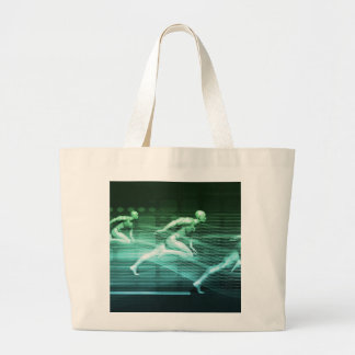 Athletic Training and Running Together Large Tote Bag