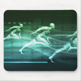 Athletic Training and Running Together Mouse Pad