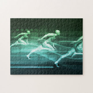 Athletic Training and Running Together Puzzle