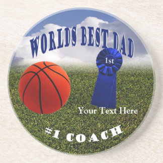 Athletic - Worlds Best Dad & #1 Coach Coaster