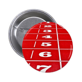 Athletics Running Track  Button Badge