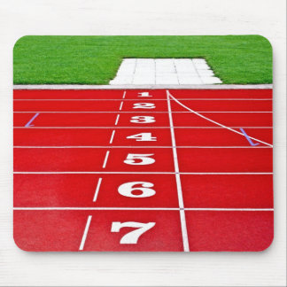 Athletics Running Track  Mouse Pad