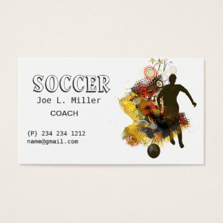soccer coach business cards