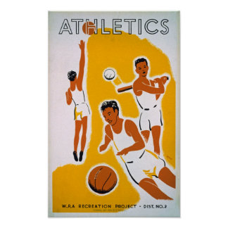 Athletics WPA Recreation Project Vintage Poster