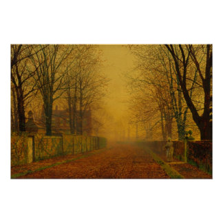 Atkinson Grimshaw Evening glow CC0539 Poster