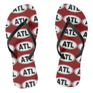 ATL Atlanta Georgia Flip Flops