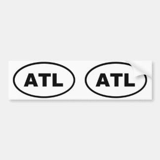 ATL Atlanta Oval Bumper Sticker