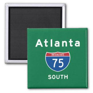 Atlanta 75 square magnet
