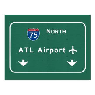 Atlanta ATL Airport I-75 N Interstate Georgia - Postcard