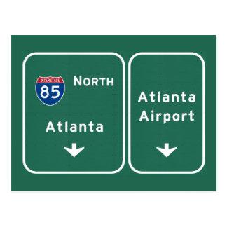 Atlanta ATL Airport I-85 N Interstate Georgia - Postcard