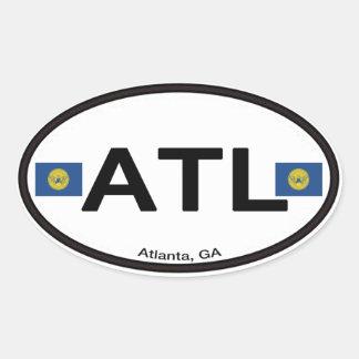 Atlanta ATL Euro-Oval Oval Sticker