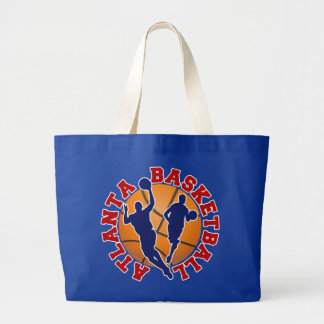 Atlanta Basketball Large Tote Bag