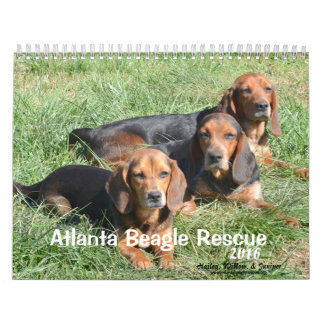 Atlanta Beagle Rescue 2016 Calendar