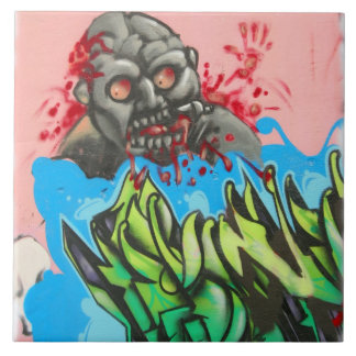 Atlanta Bloody Graffiti Tile by Zombie Fresh!