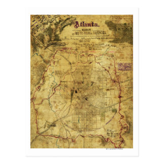 Atlanta Campaign - Civil War Panoramic Map 2 Postcard