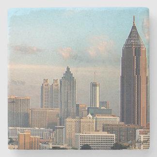 Atlanta Day Skyline Marble Stone Coaster. Stone Coaster