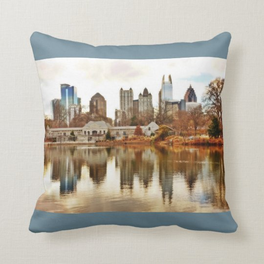Atlanta En Vogue 4 (Slate Blue) Throw Pillow
