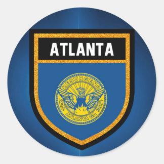 Atlanta Flag Round Sticker