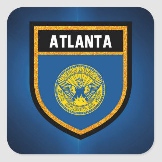 Atlanta Flag Square Sticker