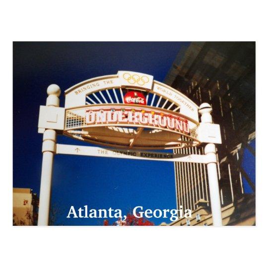Atlanta Georgia Atlanta Underground Postcard Photo