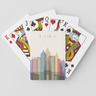 Atlanta, Georgia | City Skyline Playing Cards