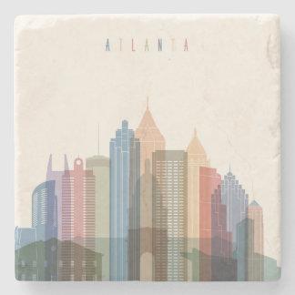 Atlanta, Georgia | City Skyline Stone Coaster