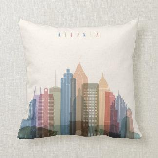 Atlanta, Georgia   City Skyline Throw Pillow