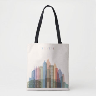 Atlanta, Georgia | City Skyline Tote Bag