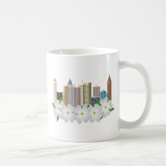 Atlanta Georgia City Skyline with Dogwood Coffee Mug