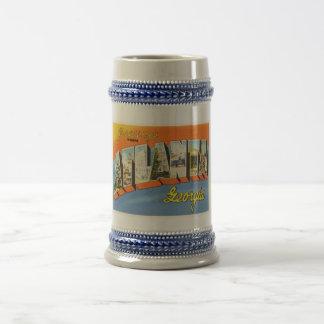 Atlanta Georgia GA Old Vintage Travel Postcard- Beer Stein